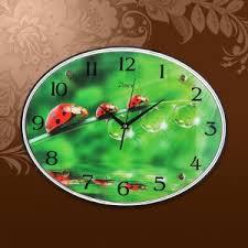 <b>Часы настенные стеклянные</b> 24*6*34 см овальные ...