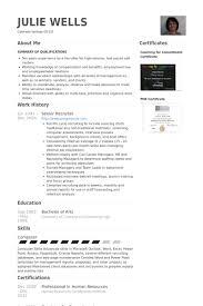senior recruiter resume samples visualcv resume samples database senior recruiter resume samples nurse recruiter resume