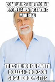Complains that young people aren't getting married tries to hook ... via Relatably.com