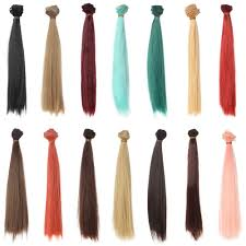 25cm*100CM <b>doll Wigs</b>/hair <b>heat</b> resistant <b>bjd</b> wigs blue red brown ...