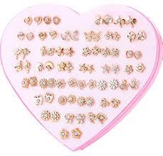 Buy Karki FusionTM 36 Pair of Diamond <b>Rose Gold</b> Mix Design ...