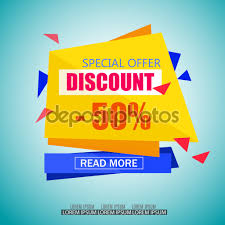 discount paper banner design big tag poster  special offer tag vector illustration for promotional brochure poster advertising shopping flyer discount banner vector by sunnyred