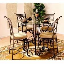 kenley oval kitchen dining set excalibur  piece counter height dinette set