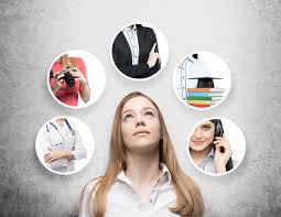 the significance of early career planning careers career center a young lady is thinking about different professions build your resume