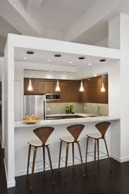 awesome mini bar apartment with wooden bar stools and clear glass pendant light feat white marble awesome designing clear glass mini pendant lights