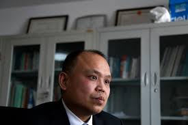 lawyers sue chinese authorities for not getting rid of smog 24 2017 photo chinese lawyer yu wensheng pauses during an interview at his office in beijing a group of chinese lawyers