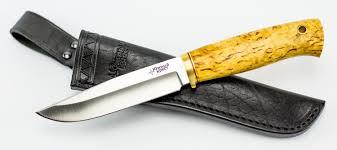 <b>Нож универсальный Древич</b>, сталь N690, карельская береза ...