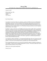 program manager cover letter examples  template program manager cover letter examples