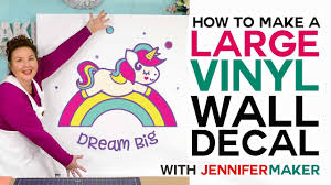 Make a Large <b>Vinyl Wall Decal</b> - How to Cut Larger Than Mat on a ...