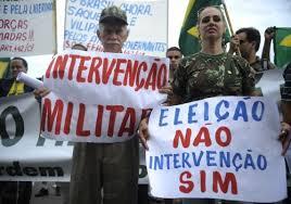 Resultado de imagem para pedido de intervenção militar no brasil fotos