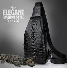 New Fashion <b>Men Chest bag</b> Messenger Bags Leather USB ...