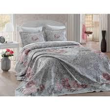 <b>Покрывало Hobby Home</b> Odelis (серый) 260x260 в интернет ...