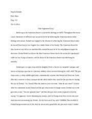 crash argument essay   nayab khattak the american dream following the  pages film argument essay