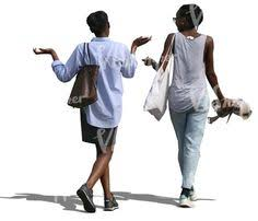 Image result for pictures of two african women walking and talking