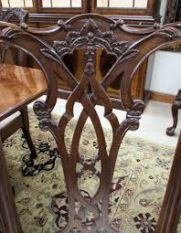 Chippendale Dining Room Table Set Of 6 Empire 183039s Antique Mahogany Amp Cherry Dining Chairs