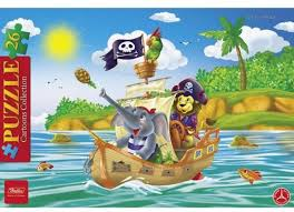 <b>Пазл</b> 26 деталей в <b>рамке Забавные</b> пираты <b>Hatber</b> 26ПЗ4_12192 ...