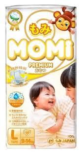 <b>Momi подгузники Premium L</b> (9-14 кг) 50 шт. — купить по выгодной ...