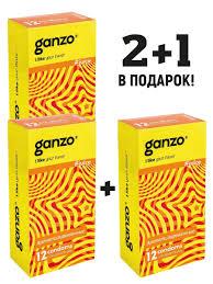 <b>Презервативы GANZO</b> JUICE, комплект 2+1 (Спайка 3 упаковки ...
