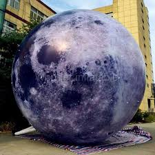 High quality outdoor 13ft <b>giant inflatable moon</b> ball with LED light ...