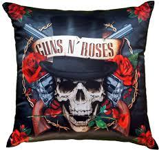 "<b>Подушка</b> декоративная Gift'n'Home ""<b>Guns n</b>' <b>Roses</b>"", наполнитель ..."