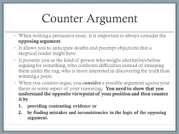 """tth outline """"the tell tale heart"""" persuasive essays let    s make    counter argument opposing argument when writing a persuasive essay  it is important to always consider"""