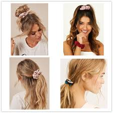 4Pcs/Set <b>Chiffon Flower Hair</b> Bands <b>Hair</b> Scrunchies <b>Flower Hair</b> ...