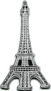 <b>Eiffel Tower Paris</b> France landmark embroidered applique iron-on ...