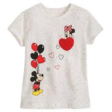 Mickey and Minnie Mouse <b>Heart</b> Balloon <b>T</b>-<b>Shirt for Girls</b>   shopDisney
