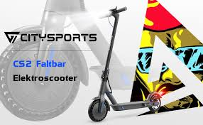 Citysports E-Scooter for Adults / 8.5 Inch / <b>Foldable</b> / with <b>App</b> and ...