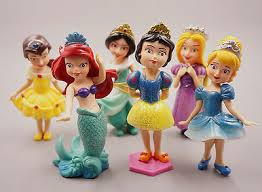 11 PCS DISNEY Princess <b>Cinderella Ariel Snow White</b> Figure Model ...
