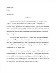 re high school graduation essays