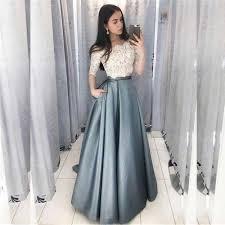 <b>Bbonlinedress Two Pieces</b> Evening Dress Half Sleeve Evening ...
