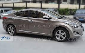 Купить <b>Хромированные молдинги на низ</b> дверей Hyundai ...