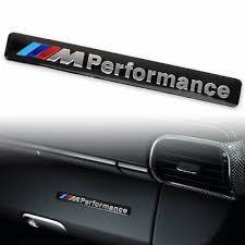 BMW <b>M Performance Car</b> Side <b>Door</b> Skirt Emblem Decal Stickers ...