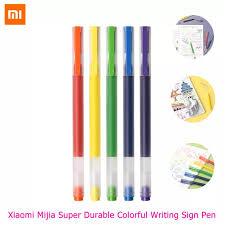 <b>Xiaomi Mijia Super Durable</b> Colorful Writing Sign Pen 5Pcs/Set 5 ...
