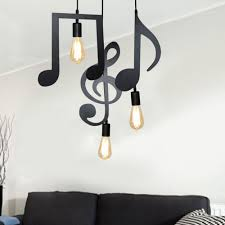 <b>Simple Modern</b> Design Iron Music Notes Lamp Holder with <b>E27</b> ...