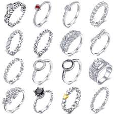<b>HOMOD Silver</b> Color Flowers Brand Finger <b>Rings</b> Dazzling Daisy ...