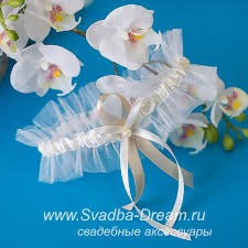 Свадебные <b>подвязки</b> для невесты кружевные ручной работы