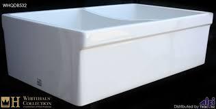 whitehaus whqdb532 double bowl fireclay 33 farmhouse apron kitchen sink apron kitchen sink kitchen sinks alcove