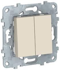 <b>Выключатель</b> 2х1-полюсный <b>Schneider Electric</b> UNICA <b>NU521144</b> ...