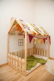 bedroom fee kids nursery fb crib size house bed with fence from birch wood bed house kids nursery