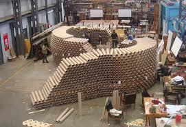 sydney architecture students build pavilion from 2000 recycled cardboard tubes cardboard tube pavilion inhabitat green design innovation architecture cardboard tubes