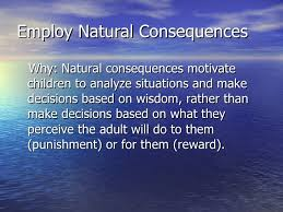 Image result for learning through natural consequences