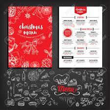 christmas party invitation restaurant menu design vector christmas party invitation restaurant menu design vector template graphic stock vector
