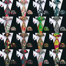 <b>Barry.Wang</b> Silk Tie Set for Men with Pocket Square Handkerchief ...
