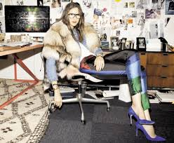 le fashion jenna lyons office jcrew interior design office inspiration magazine cut out collage wall decor chic office interior design