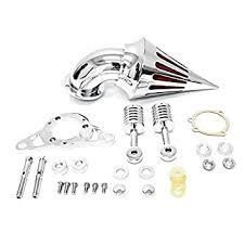 Krator Motorcycle Chrome Spike Air Cleaner Intake ... - Amazon.com