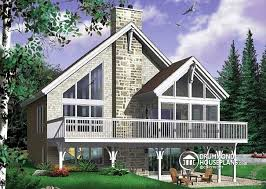 House plan W detail from DrummondHousePlans com    front   BASE MODEL Rustic cottage plan  scandinavian style home    open loft on