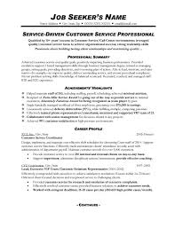 Resume Examples  Example of Customer Service Resume  customer         Resume Examples  Resume Example For Service Driven Customer Service Professional With Professional Summary And Acvhievements