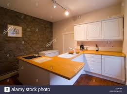 beech wood kitchen cabinets: fitted natural wood kitchen in a  year old house in scotland beech tops and painted